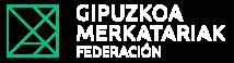 Federacion Mercantil de Gipuzkoa Merkatariak logo blanco
