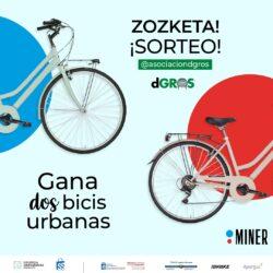 Sorteo de bicicletas urbanas de MINER entre los seguidores de @asociaciondgros